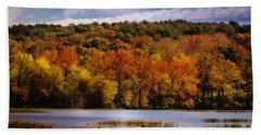 Fall On Springfield Lake Hand Towel