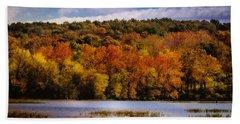 Fall On Springfield Lake Bath Towel