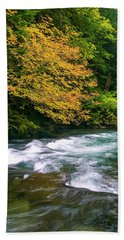 Fall On The Clackamas River, Or Hand Towel