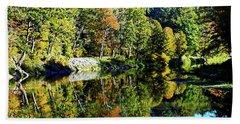 Fall On The Ottauquechee River Bath Towel