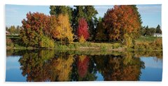 Fall On The Yakima River Hand Towel