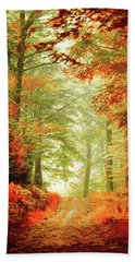 Fall Painting Hand Towel