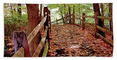 Fall Pathway Bath Towel