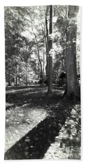 Fall Picnic Bw Painted Hand Towel by Judy Wolinsky