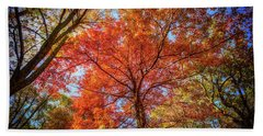 Fall Red Hand Towel