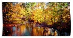 Fall Scene In Stillwater Hand Towel