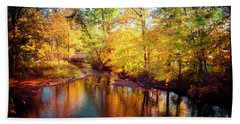 Fall Scene In Stillwater Hand Towel