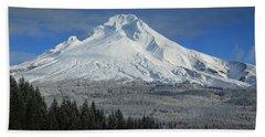 Fall Snow On Mount Hood Hand Towel by Lynn Hopwood