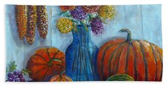 Hand Towel featuring the painting Autumn Still Life by Lou Ann Bagnall