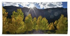 Fall Sun Setting Over Mt. Charleston Bath Towel