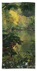 Fall View Lake Erin Doraville Ga Hand Towel