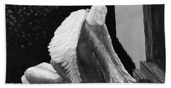 Fallen Angel Noir  Hand Towel