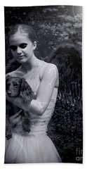 Bath Towel featuring the photograph Fallen Angel by Rebecca Margraf