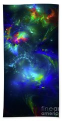 Hand Towel featuring the digital art Fallen Dimensions by Arlene Sundby