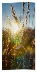 Hand Towel featuring the photograph Fallen Rays by Nikki McInnes
