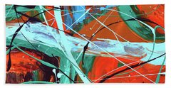 Falling Into Autumn Hand Towel by Donna Blackhall