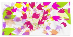 Hand Towel featuring the digital art Falling Leaves by Barbara Moignard