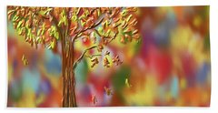 Hand Towel featuring the painting Falling Leaves by Kevin Caudill