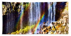 Falling Rainbows Bath Towel