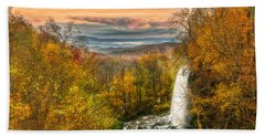 Bath Towel featuring the photograph Falling Spring Falls by Russell Pugh