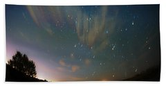 Hand Towel featuring the photograph Falling Stars by Karen Slagle