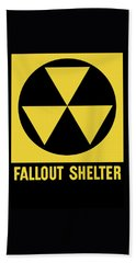 Fallout Shelter Sign Hand Towel