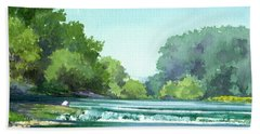 Falls At Estabrook Park Bath Towel
