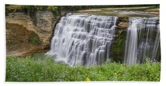 Autumn Flower Of Letchworth Middle Falls Bath Towel