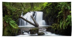 Falls On Canyon Creek Hand Towel