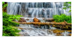 Bath Towel featuring the photograph Falls On Sable Creek by Nick Zelinsky
