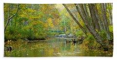 Falls Road Bridge Over The Gunpowder Falls Bath Towel by Donald C Morgan