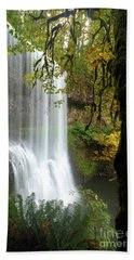Falls Though The Trees Hand Towel by Adam Jewell