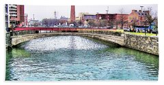Hand Towel featuring the photograph Fallswalk And Shot Tower by Brian Wallace