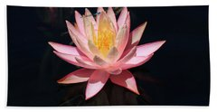 Familiar Bluet Damselfly And Lotus  Hand Towel