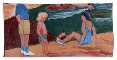 Family At Slide Rock Park Bath Towel