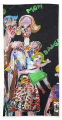 Bath Towel featuring the painting Family Day by Fabrizio Cassetta