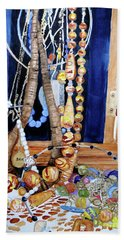 Bath Towel featuring the painting Family Jewels by Sandy McIntire