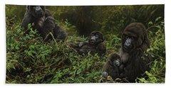 Family Of Gorillas Hand Towel