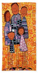 Family Portrait Hand Towel