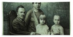 Family Portrait Hand Towel