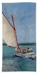 Family Sail Bath Towel by Trina Teele