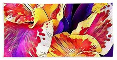 Bath Towel featuring the photograph Fanciful Canna  by Heidi Smith
