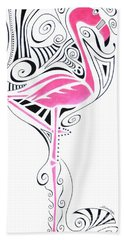 Fanciful Flamingo Hand Towel