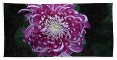 Fancy Chrysanthemum In Pink Bath Towel
