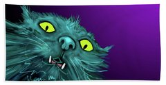 Bath Towel featuring the painting Fang Dizzycat by DC Langer