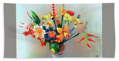 Fantastic Flowers Of The South Pacific Bath Towel