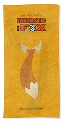 Fantastic Mr. Fox Hand Towel by Ayse Deniz