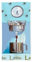 Fantasy Espresso Machine Bath Towel by Marian Cates