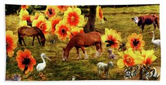 Fantasy Farm Hand Towel by Judi Saunders