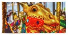 Fantasy Giraffe Carrousel Ride Hand Towel